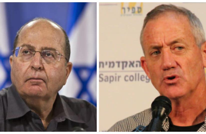 Moshe Ya'alon and Benny Gantz both served as IDF chief of staff (photo credit: Wikimedia Commons)