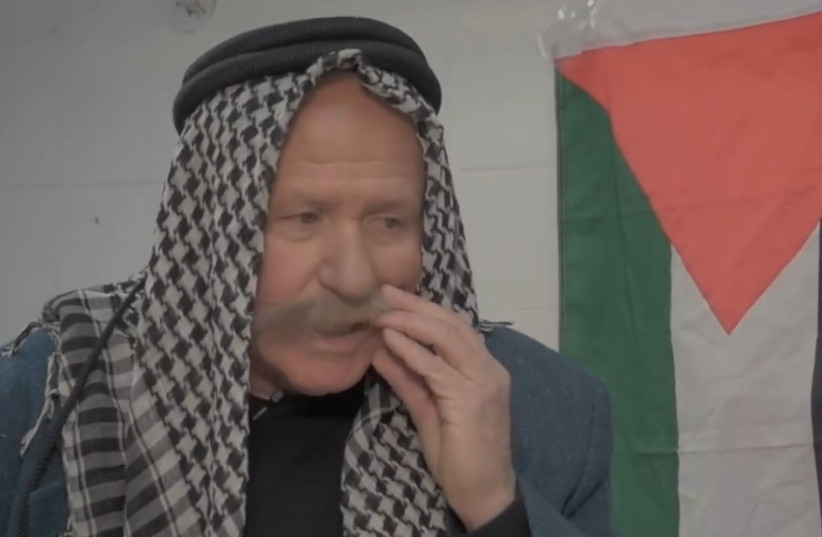 Likud MK Avi Dichter poses as a Palestinian in a video for his Likud primary campaign (photo credit: screenshot)