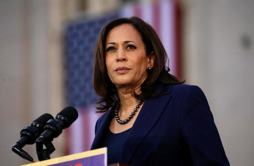 U.S. Senator Kamala Harris launches her campaign for President of the United States (photo credit: ELIJAH NOUVELAGE / REUTERS)
