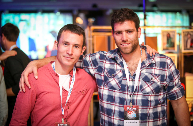 Amit Meir and Shlomo Lampert in the Forbes 30 under 30 list (photo credit: SHLOMI YOSEF/FORBES ISRAEL)