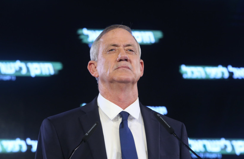 Benny Gantz, chairman of the Israel Resilience Party (photo credit: MARC ISRAEL SELLEM/THE JERUSALEM POST)