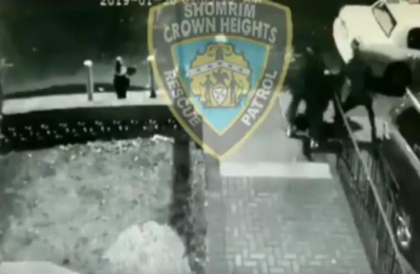 Jewish man was 'brutally' beaten by three unidentified assailants Brooklyn, New York.  (photo credit: SCREENSHOT FROM TWITTER)