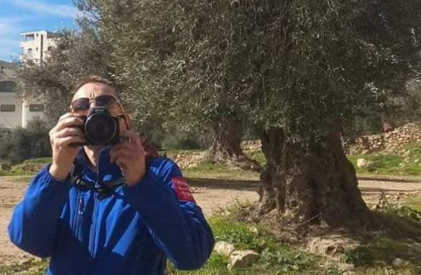 A member of TIPH - Temporary International Presence in Hebron foreign observer force, January 2019 (photo credit: JEWISH COMMUNITY OF HEBRON)
