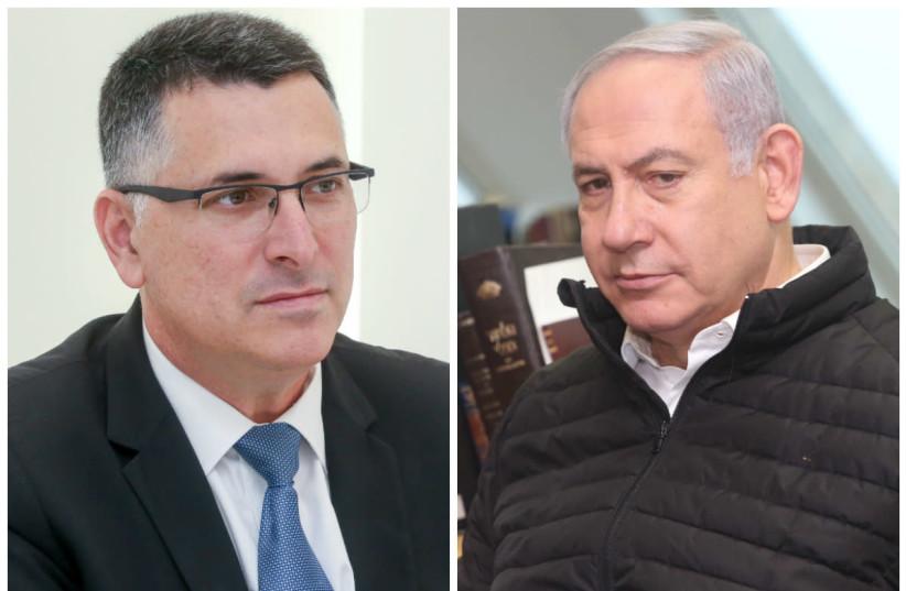 Gideon Sa'ar (L) and Benjamin Netanyahu (R) (photo credit: MARC ISRAEL SELLEM/THE JERUSALEM POST)
