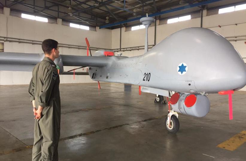 Israel Aerospace Industry's Heron TP drone (photo credit: ANNA AHRONHEIM)