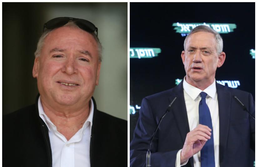 David Amsalem (L) and Benny Gantz (R) (photo credit: MARC ISRAEL SELLEM/THE JERUSALEM POST)