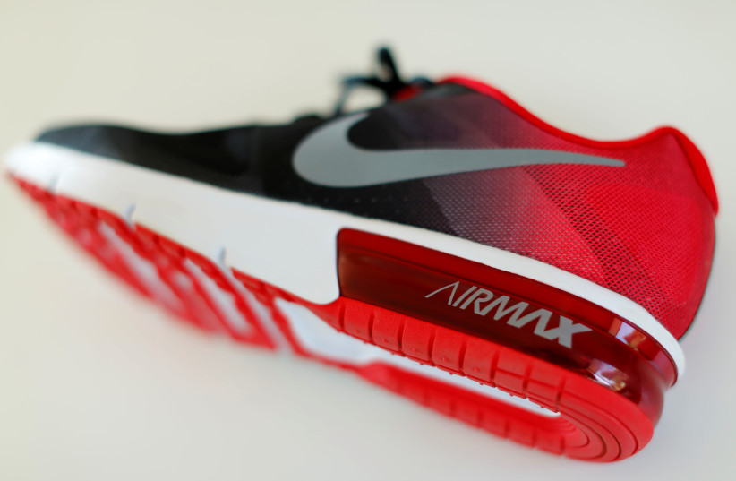 An Air Max shoe made by Nike Inc is shown in this illustration photograph taken in Encinitas, California, U.S. June 27, 2016. (photo credit: REUTERS/MIKE BLAKE)