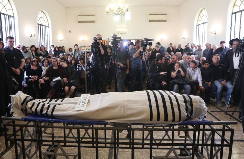 Funeral of Rabbi Yechiel Eckstein (photo credit: MARC ISRAEL SELLEM/THE JERUSALEM POST)