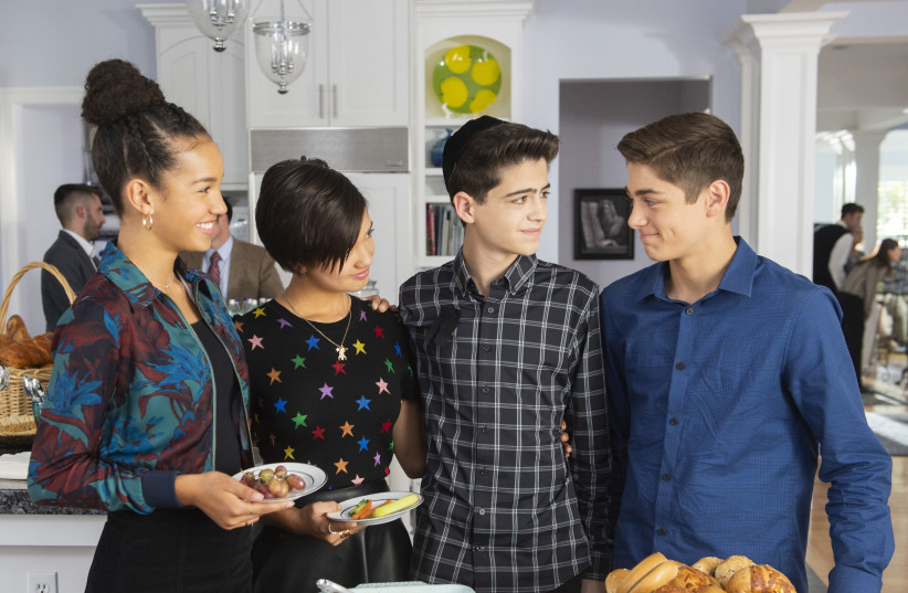 BUFFY, ANDI, Cyrus and Jonah appear in the 'Andi Mack' episode titled 'One in a Minyan.' (photo credit: FRED HAYES/DISNEY CHANNEL)