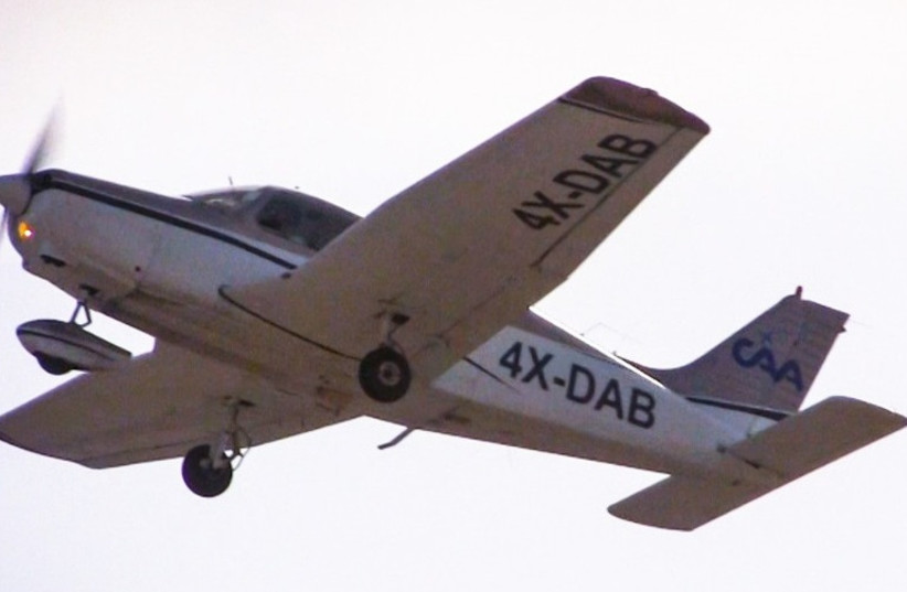 An airplane belonging to CAA's commercial aviation academy (photo credit: CAA)