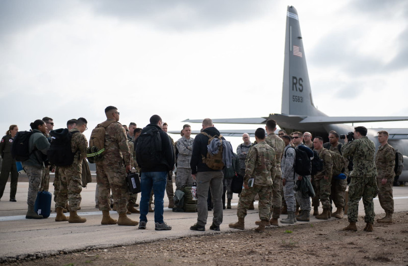 US Army soldiers arrive at Israel for preparations of the 2019 Juniper Falcon annual drill (photo credit: IDF SPOKESPERSON'S UNIT)