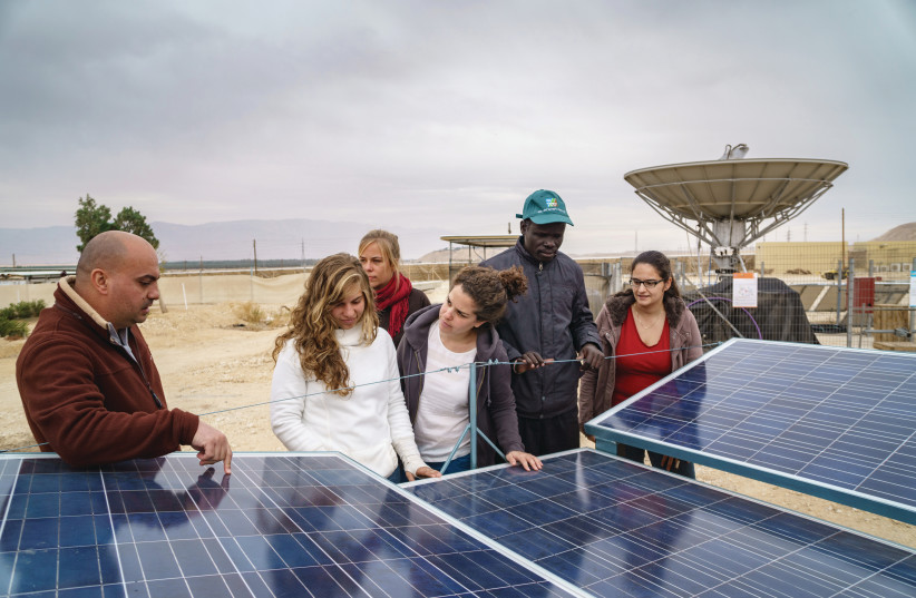 STUDENTS AT the USAID-funded Arava Institute for Environmental Studies, located on Kibbutz Ketura, use the desert as their classroom (photo credit: MARCOS SCHONHOLZ)
