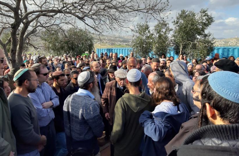 Funeral of Ori Ansbacher in Tekoa at Gush Etzion (photo credit: Courtesy)