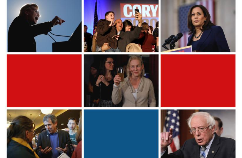 Democratic hopefuls who voted against recent anti-BDS legislation. (photo credit: REUTERS)