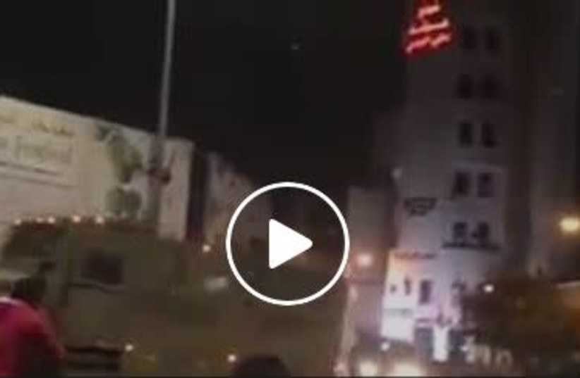 IDF soldiers are attacked in Ramallah. (photo credit: screenshot)