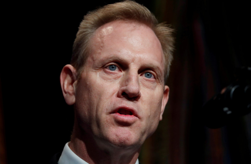 Acting U.S. Secretary of Defense Patrick Shanahan speaks during the Missile Defense Review announcement at the Pentagon in Arlington, Virginia, U.S. (photo credit: REUTERS/KEVIN LAMARQUE)