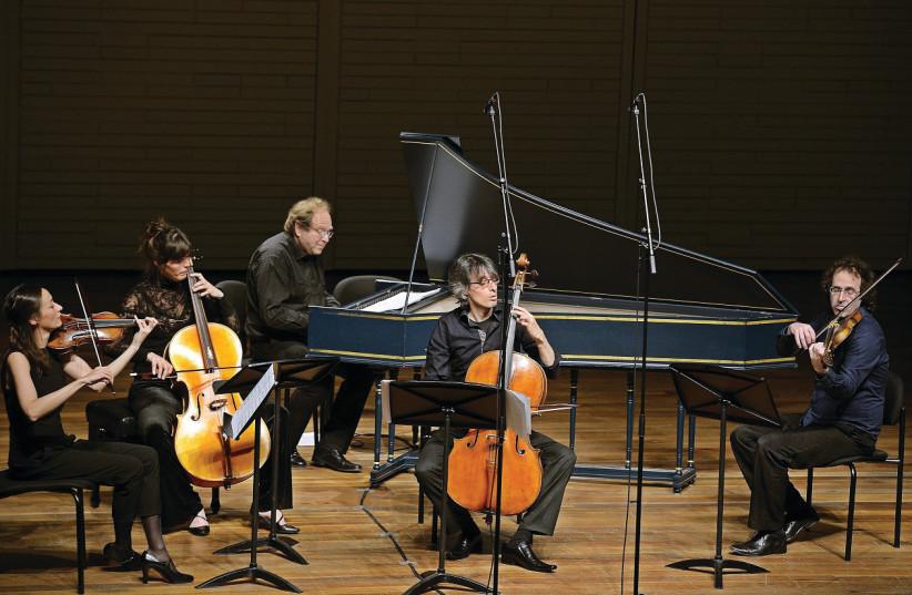 THE IRA GIVOL Ensemble performs Bach suites. (photo credit: YOAV ETIEL)