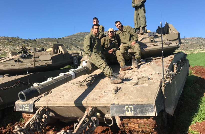 Soldiers from the IDF 401th Armored Brigade in training (photo credit: IDF SPOKESMAN'S UNIT)