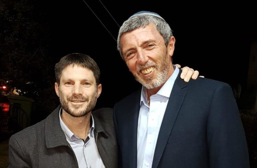 Bezalel Smotrich and Rabbi Rafi Peretz after signing the agreement with the National Union. (photo credit: BAYIT YEHUDI)