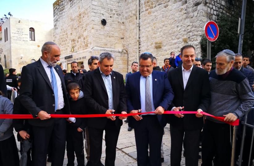 Picture of MK Ze'ev Elkin and Jerusalem Mayor Moshe Lion (photo credit: Courtesy)