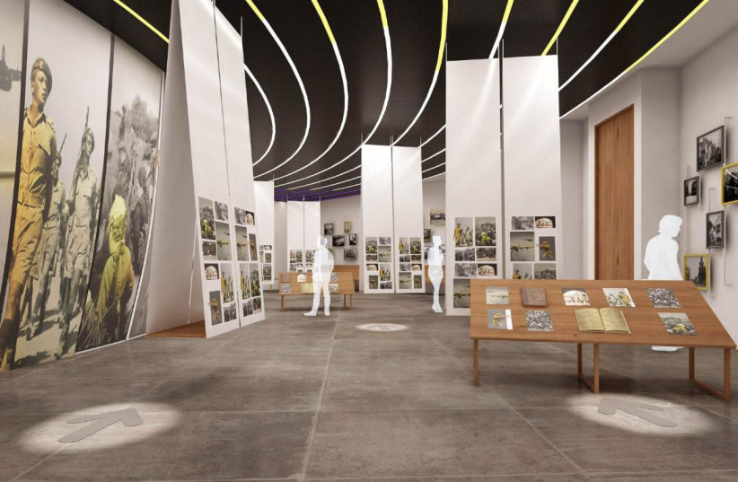 A simulation of the upcoming Latrun museum of the WW2 Jewish fighter  (photo credit: Courtesy)