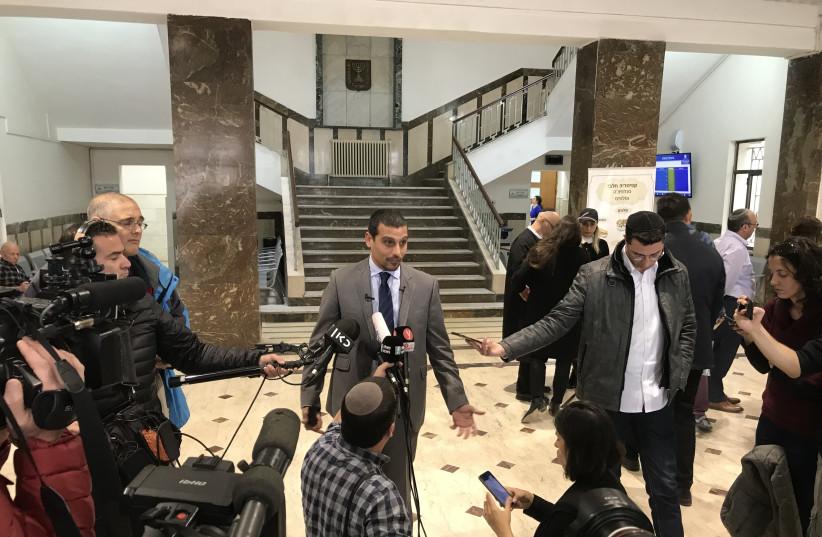 Manny Waks of Kol v'Oz speaks to the press at the Jerusalem District court Monday (photo credit: SETH J. FRANTZMAN)