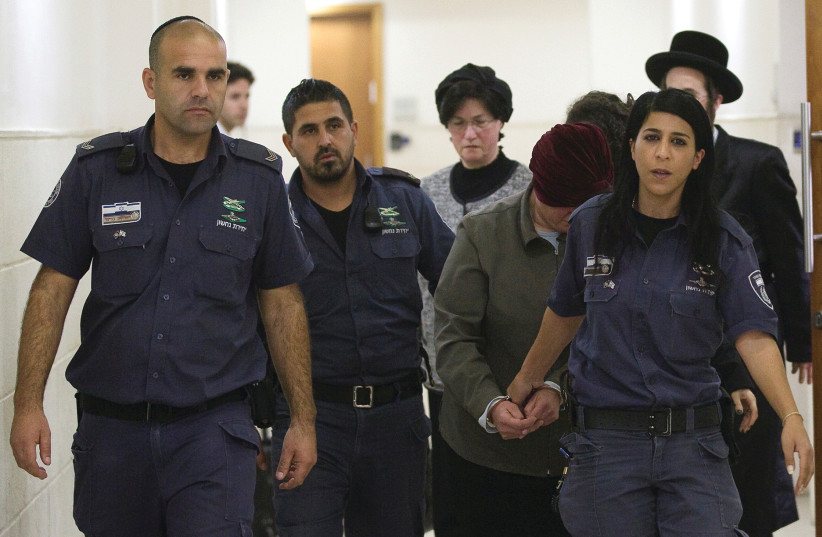 Malka Leifer is brought to court last week (photo credit: REUTERS)