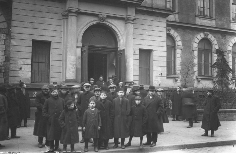 The Jewish Community Center that was two doors down from my grandmother's apartment (photo credit: POLISH NATIONAL DIGITAL ARCHIVE)