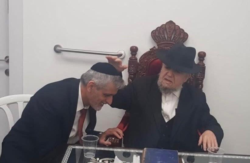 Eli Yishai and Rabbi Meir Mazuz (Yahad) (photo credit: YAHAD)