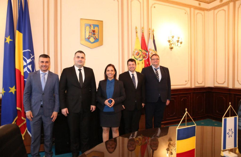 An Israeli delegation in Romania (photo credit: Courtesy)
