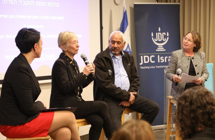Iris Stern Levy and Shehadeh Abu Smith. (photo credit: Courtesy)