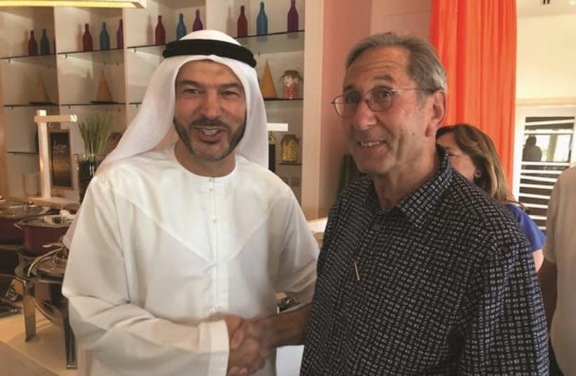 David Zwebner with Nasif Kayed (photo credit: COURTSEY DAVID ZWEBNER)