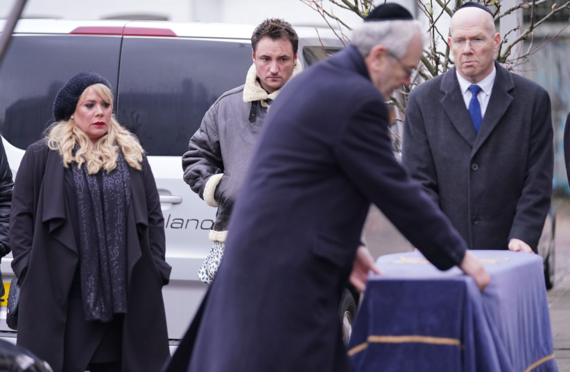 A SCENE from Dr. Legg's funeral on 'Eastenders.'  (photo credit: BBC)