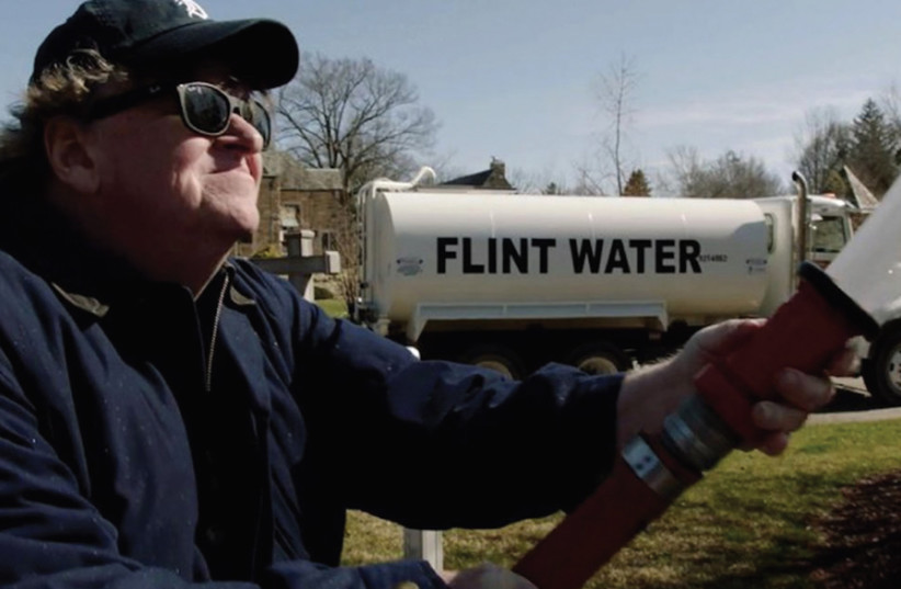 FILMMAKER MICHAEL MOORE in the documentary 'Fahrenheit 11/9.' (photo credit: Courtesy)