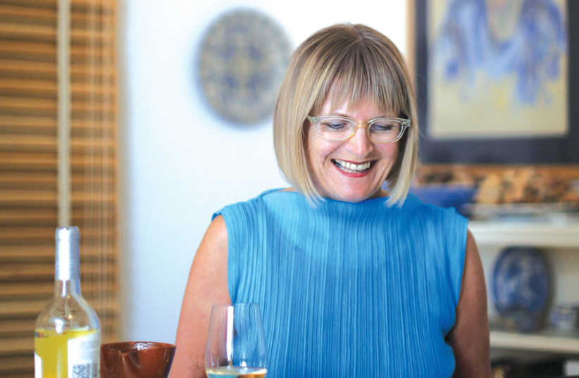 JANCIS ROBINSON – arguably the most famous wine critic and writer today – at her laptop. (photo credit: Courtesy)