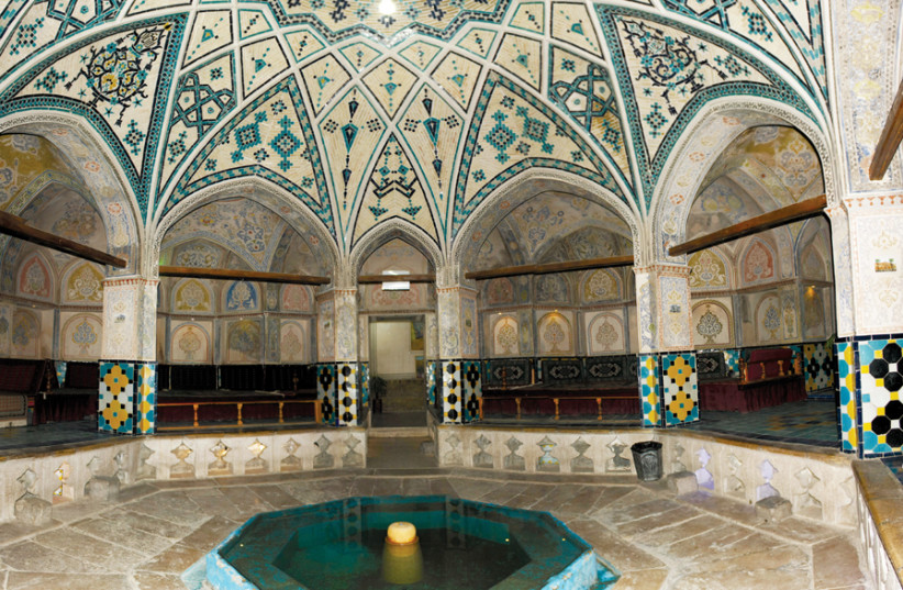 SOLTAN AMIR Ahmad Bath House; Kashan, Iran: 'If the Holy One, blessed be He, gave wisdom to fools, they would still sit in privies, filthy alleys and bathhouses.' (photo credit: Wikimedia Commons)