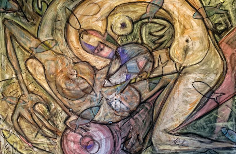ETHAN DOR-SHAV'S painting 'I Sleep and My Heart is Awake.' (photo credit: Courtesy)