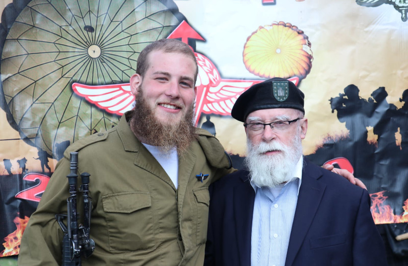 Among the paratroopers being honored one in particular, Joe Brickman, a Crown Heights native of Brooklyn New York, and grandson of U.S. Colonel Rabbi and Former Chief Chaplain of the New York National Guard (photo credit: Courtesy)