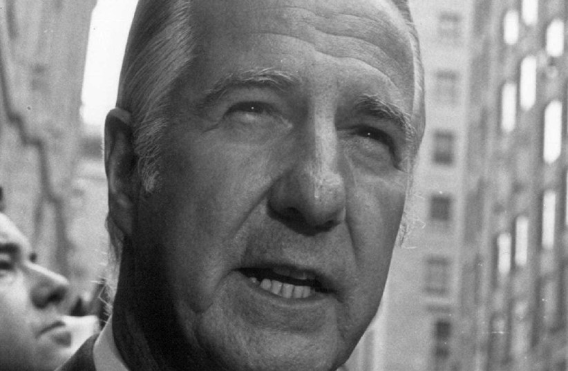 File photo: Spiro Agnew outside federal court in Baltimore. (photo credit: REUTERS)