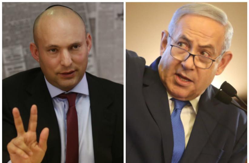 Naftali Bennett (L) and Benjamin Netanyahu (R) (photo credit: MARC ISRAEL SELLEM/THE JERUSALEM POST)