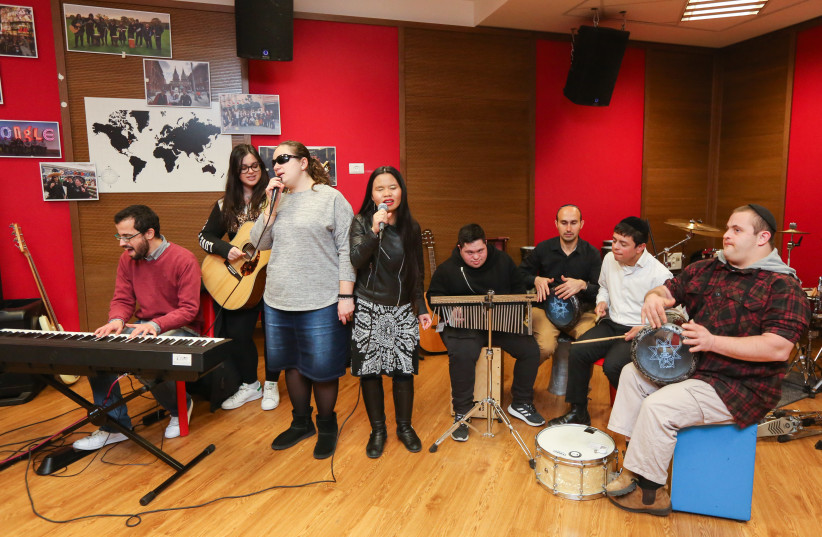 The Shalva Band rehearses in Jerusalem last week. (photo credit: MARC ISRAEL SELLEM/THE JERUSALEM POST)