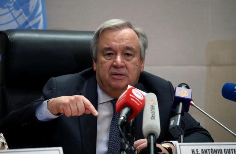 Antonio Guterres, United Nations (UN) Secretary General (photo credit: REUTERS/TIKSA NEGERI)