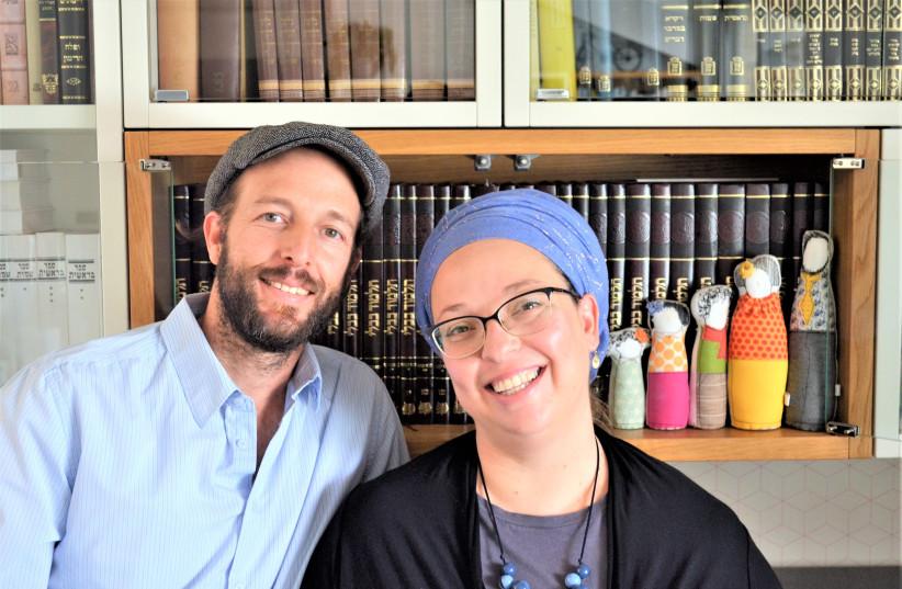 SARAH SEGAL-KATZ and her 'rebbetz-man' Adam (photo credit: MA'AYAN ALEXANDER)