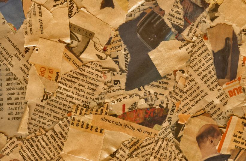 Newspaper clippings (descriptive) (photo credit: INGIMAGE)