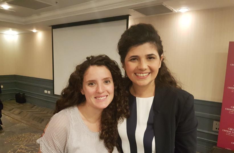 Rachel Broyde (L) and Likud MK Sharren Haskel (R) (photo credit: Courtesy)