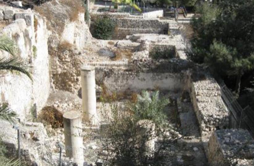 Remains from the crusader church   (photo credit: EMEK SHAVEH)
