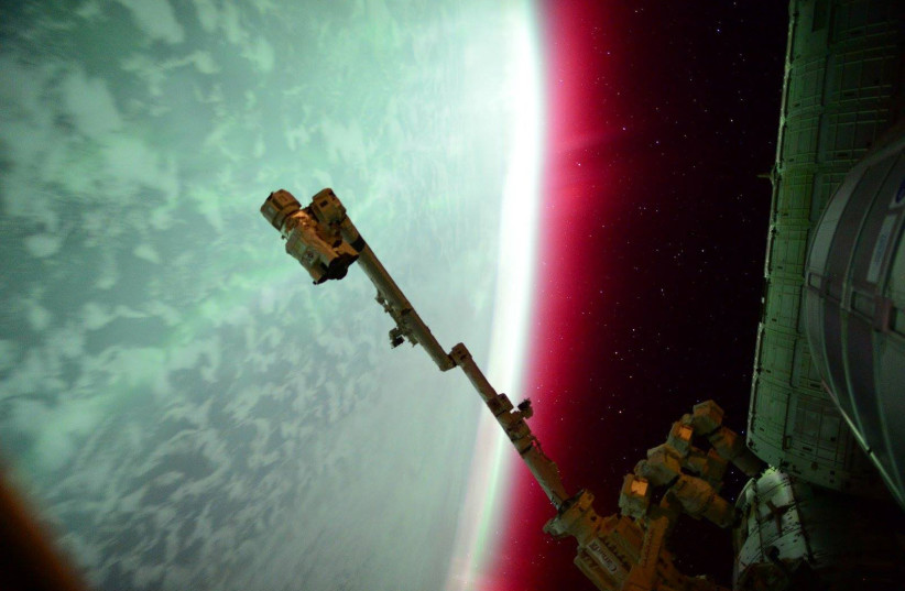 NASA Astronaut Scott Kelly captured an aurora from the International Space Station in this NASA handout photo taken on June 23, 2015. (photo credit: REUTERS)