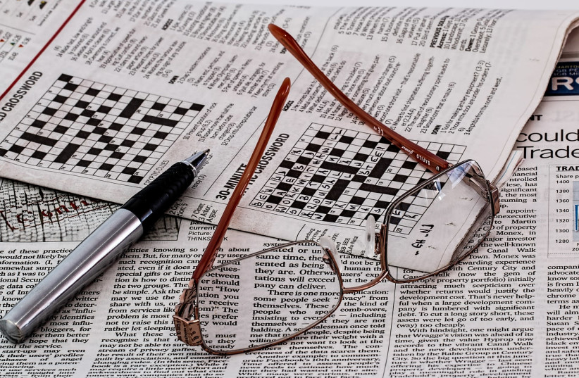 Crossword puzzle [Illustrative] (photo credit: PIXABAY)