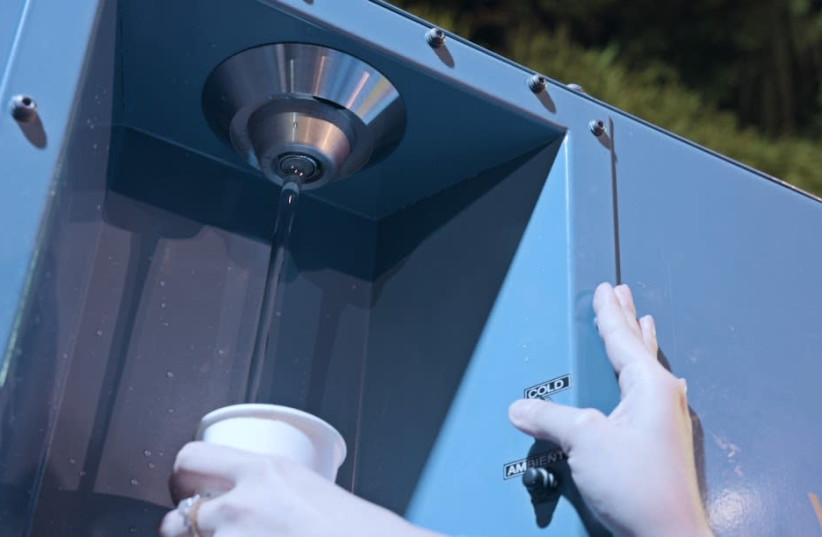A Watergen machine produces clean drinking-quality water from the air  (photo credit: PR)