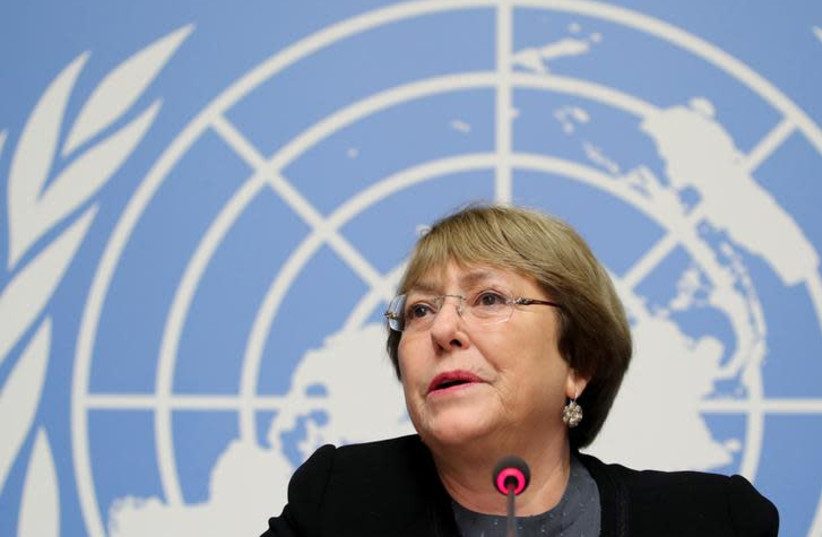 United Nations High Commissioner for Human Rights Michelle Bachelet (photo credit: REUTERS)